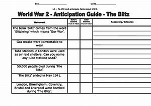 Ww2 Anticipation Guide