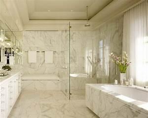 le carrelage en marbre en 42 photos With marbre pour salle de bain