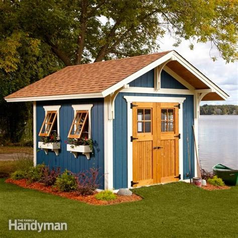shed plans storage shed plans  family handyman