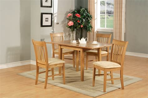 5pc rectangular kitchen dinette table 4 chairs oak ebay