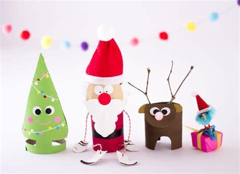 auch zu weihnachten kann man mit klorollen basteln