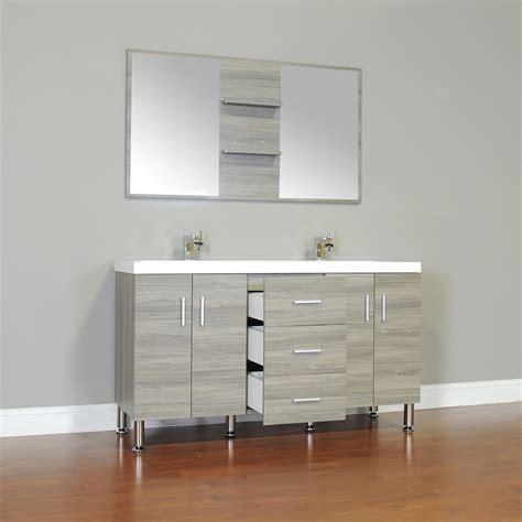 Contemporary Vanity Bathroom by Alya At 8043 G 56 Quot Modern Bathroom Vanity Gray