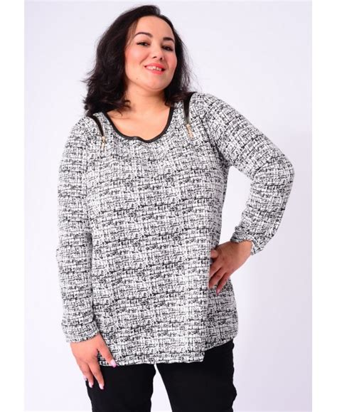pull epaules zippees grande taille 5166 grossiste pret a porter
