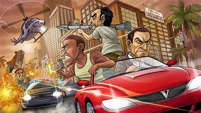 Theft Grand Police Chase Wallpapers Games Desktop