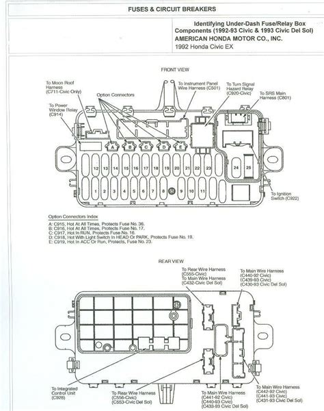 Accord Under Dash Fuse Diagram Honda Tech