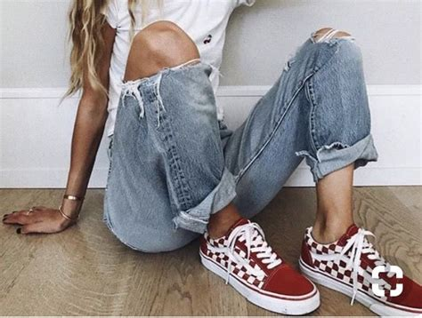 Red checkered vans! | My style | Pinterest | Vans Clothes and Vans outfit