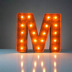 letter m 12quot vintage marquee lights touch of modern With marquee letter m