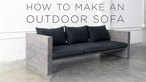 how to make a l how to make an outdoor sofa youtube