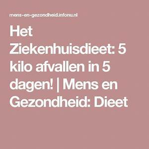 7 dagen dieet 5 kilo afvallen