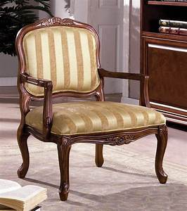 Burnaby, Antique, Oak, Accent, Chair, With, Hand