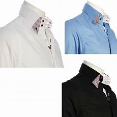 Men's Formal Shirt Men Italian Dress Double Collar