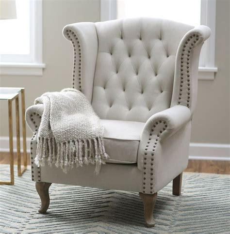 wingback arm chair furniture accent chairs linen