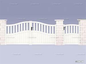 Portail 3 50m : portail alu assembl hippocampe m 37906 37908 ~ Premium-room.com Idées de Décoration