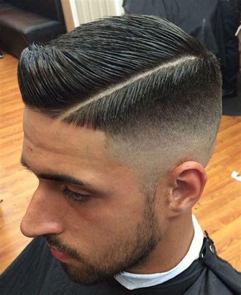 retro fade side part haircuts estilos de cabello