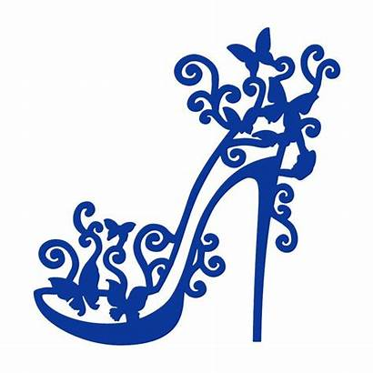 Heel Clipart Shoe Clip Library Tattered Dies