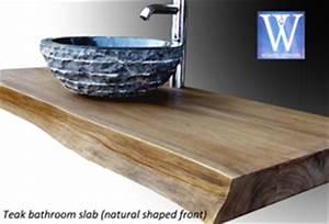 Plan Vasque Bois Brut : meubles de salle de bain en teck plan de travail ~ Teatrodelosmanantiales.com Idées de Décoration