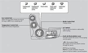 Heating And Cooling    Controls    Honda Fit 2007