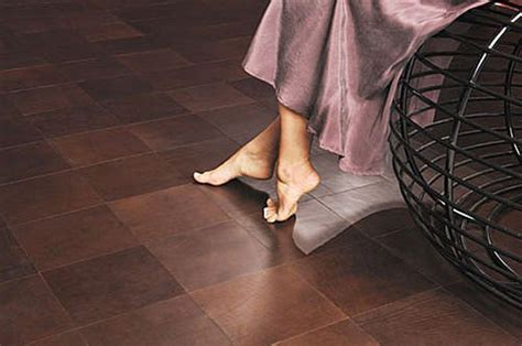 Creative Decorative ? Leather Flooring and Wall Tile Floor