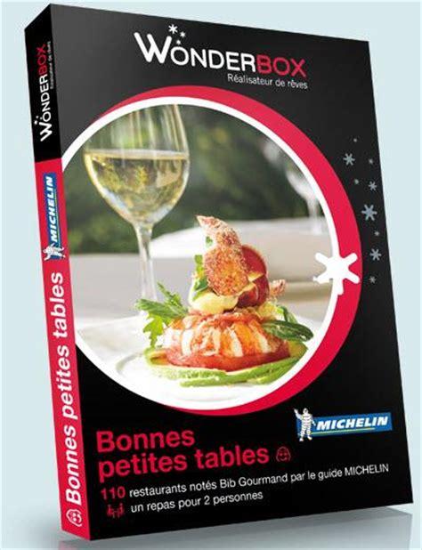 Wonderbox Coffret Cadeau  Tables Gourmandes Michelin