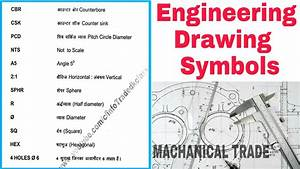 Engineering Drawing Important Symbol For Mechanical Trade