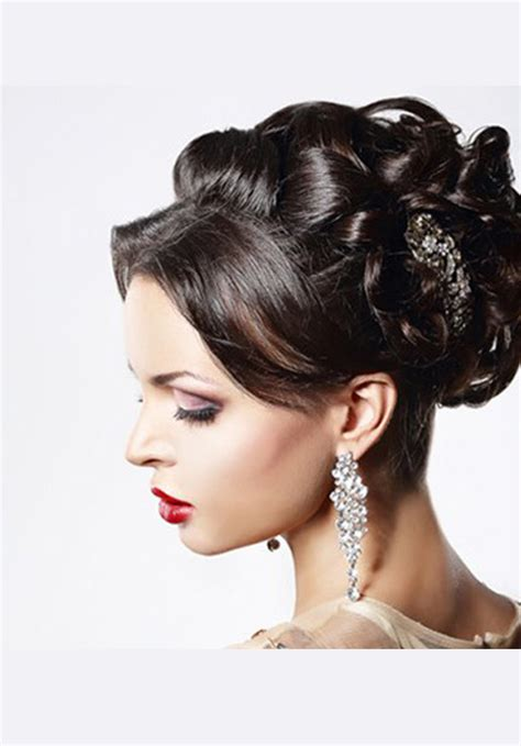 Hairstyles For Evening Wear by Reception Hairstyle And Indian Wedding Hair Style Ideas