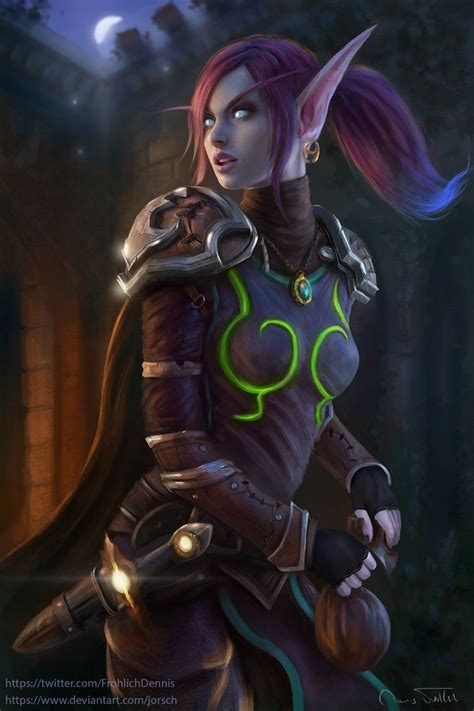 void elf rogue sharwyn  jorsch world  warcraft