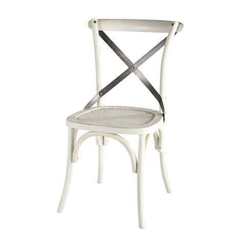 chaise rotin maison du monde chaise en rotin et métal blanche tradition maisons du monde