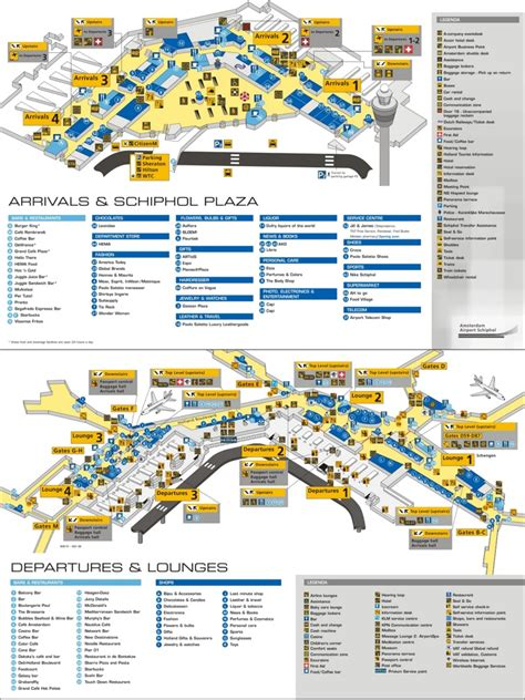 Flughafen Amsterdam Karte