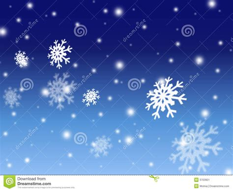 christmas snow blue card background stock image image