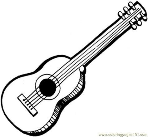 acoustic guitar coloring page  instruments coloring pages coloringpagescom