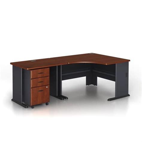 bush series a desk bush bbf series a 3 piece wood corner computer desk in
