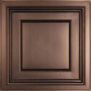 Ceilume Madison Faux Bronze 2 ft x 2 ft Lay-in Coffered