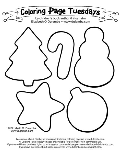 dulemba: Coloring Page Tuesday   Christmas Cookies