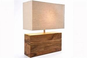 Lampe Bois Design : lampe de table en bois lampe poser pas cher ~ Teatrodelosmanantiales.com Idées de Décoration