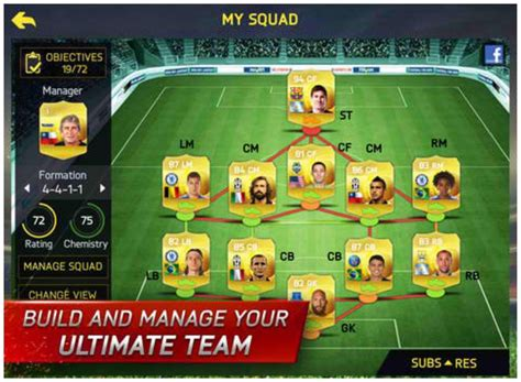 Build Your Team Footalist Five Can 39 T Miss Apps 39 Fifa 15 Team 39 And More
