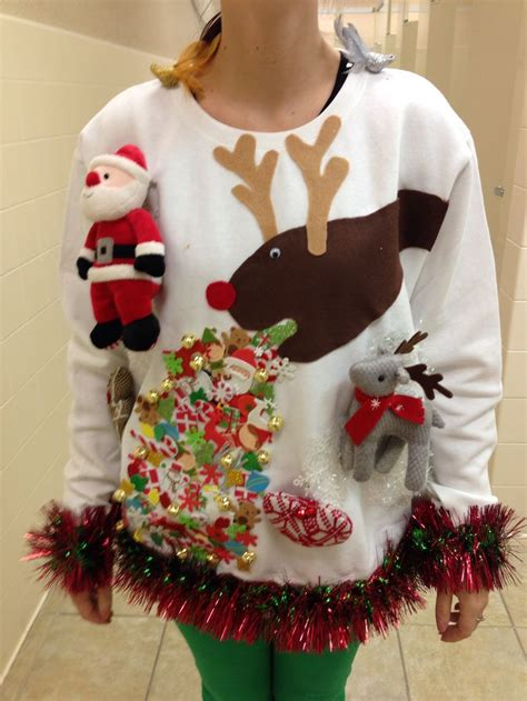easy diy ugly sweater  christmas godfather style