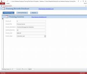 download employee training plan and record access database With training database template access