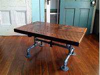 barn wood tables Reclaimed Barn Wood Table Coffee table Galvanized pipe and