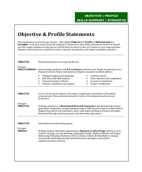 Software Engineer Resume Objective Statement by Sle Resume Objective Statement 8 Exles In Pdf