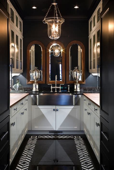shaped butlers pantry eclectic kitchen joy tribout