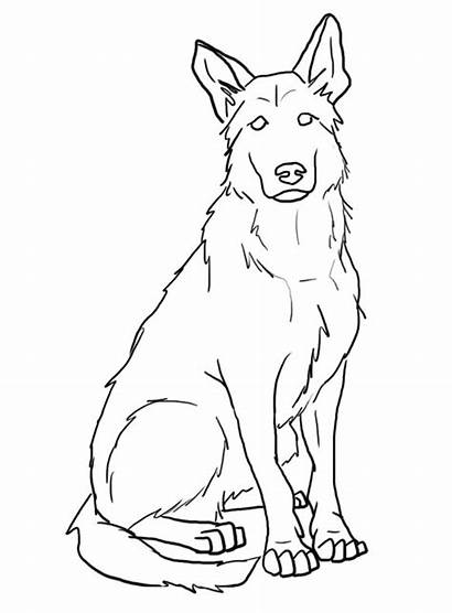 Dog Shepherd German Drawing Tattoos Painting