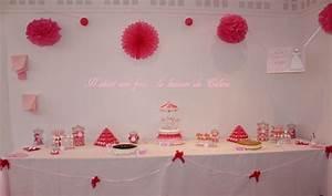 Deco Table Bapteme Fille : enchanteur deco de table bapteme fille et sweet table rose fushia et blanc collection images ~ Preciouscoupons.com Idées de Décoration
