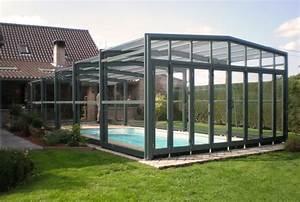 Abri Haut Piscine : poolabri abri piscine haut telescopique 3 angles ~ Premium-room.com Idées de Décoration