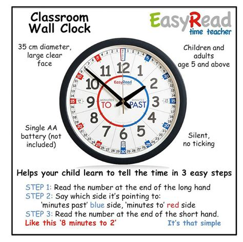 Easyread Time Teacher Kids Clock Sweet Elephants Australia