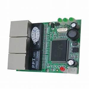 Mini 3 Port Ethernet Switch 10    100mbps Rj45 Network