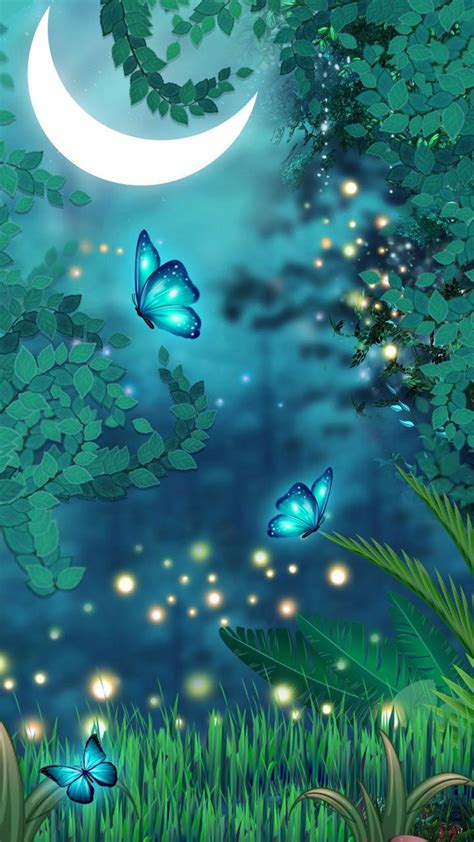 Beautiful Magical Wallpaper by Magical Butterflies Dreamy Colors Butterfly Neon