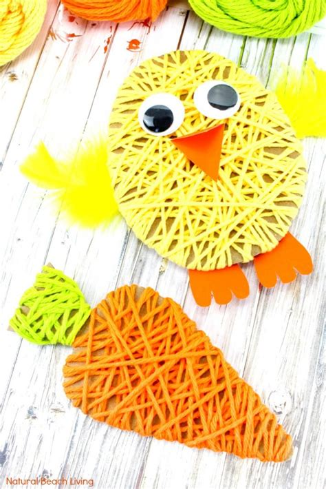 easy easter crafts for yarn crafts for 136 | Easy Easter Crafts for Kids pin1 683x1024