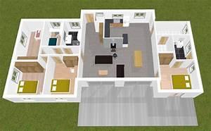 avis maison plain pied 160m2 23 messages With marvelous plan 3d maison en ligne 0 plan maison 3 chambres 3d