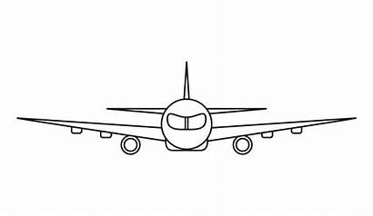 Vector Airplane Outline Coloring Plane Clip Commercial