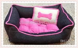 Freeshippingpink dog bedcat bedpet housepet bed bone for Medium dog beds cheap